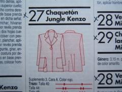 patrones 137-27 Jacke A-Form technische Zeichnung