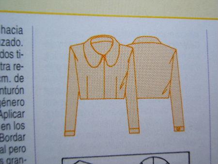 Jacke A-Form weiss Schnittzeichnung